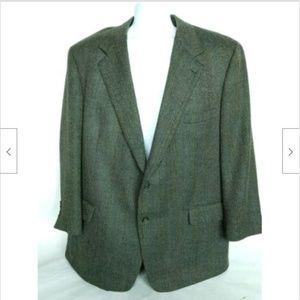 Brooks Brothers Men's Gray Tweed Suit Coat 48 Reg
